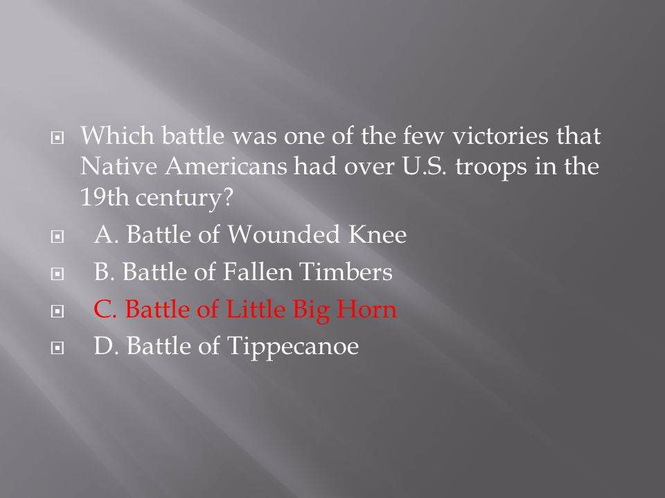 Which battle was one of the few victories that Native Americans had over U.S. troops in the 19th century