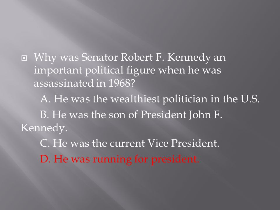 Why was Senator Robert F