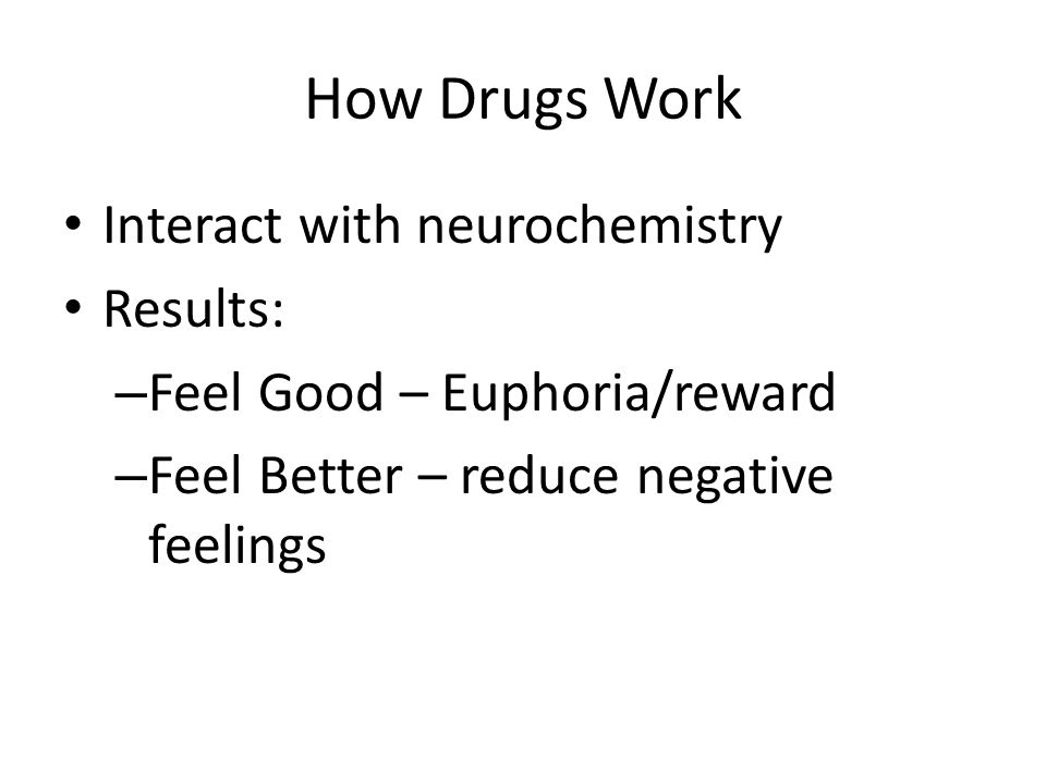 How Drugs Work Interact with neurochemistry Results: