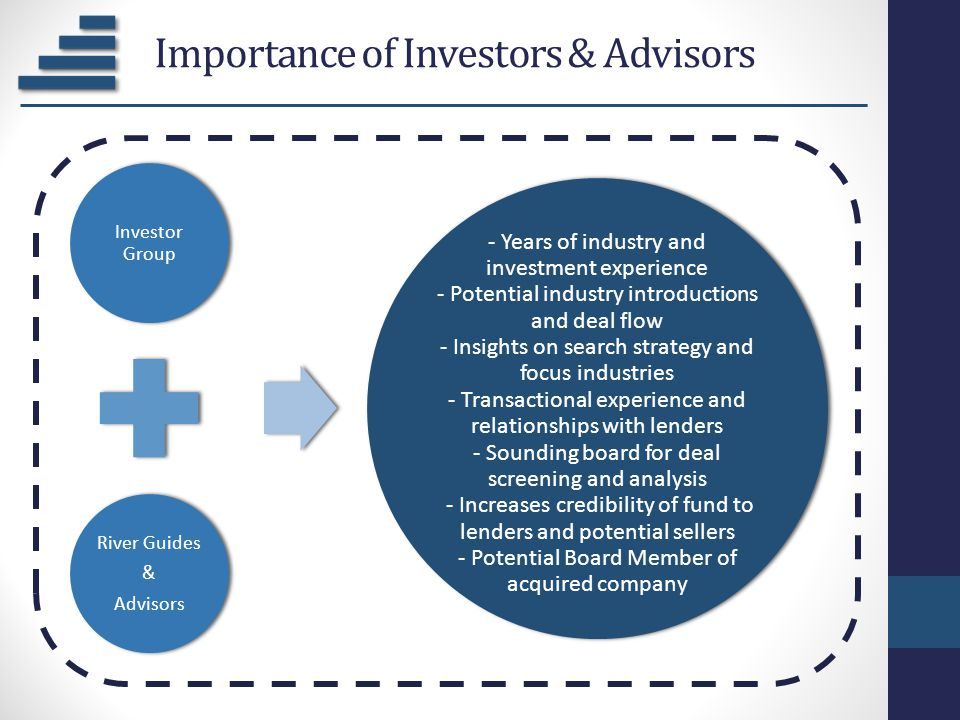 Importance of Investors & Advisors
