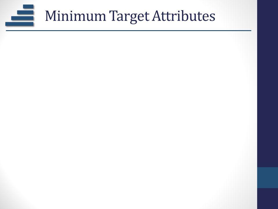 Minimum Target Attributes