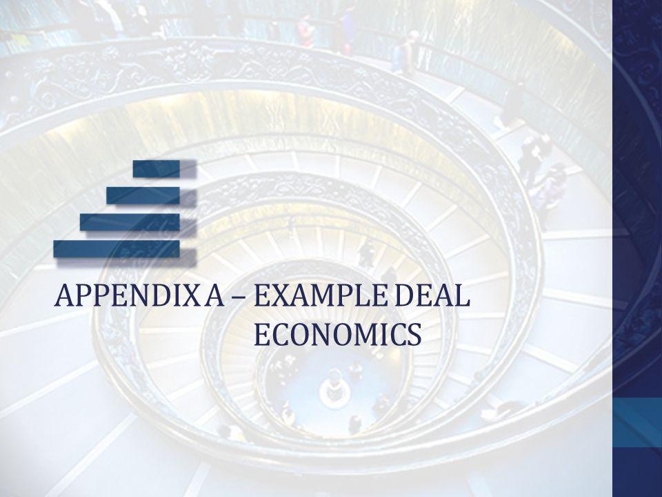 Appendix a – example deal Economics