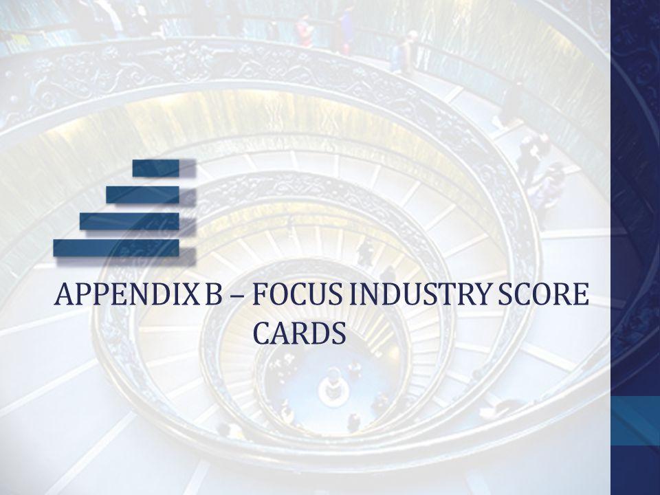 Appendix b – focus industry score cards
