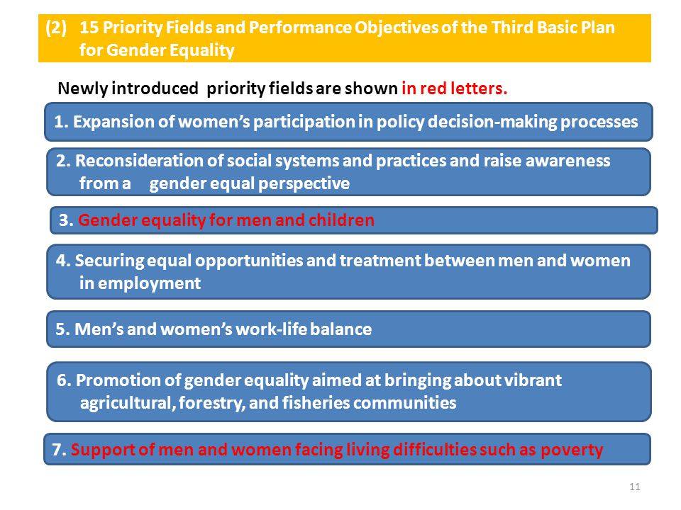 15 Priority Fields and Performance Objectives of the Third Basic Plan