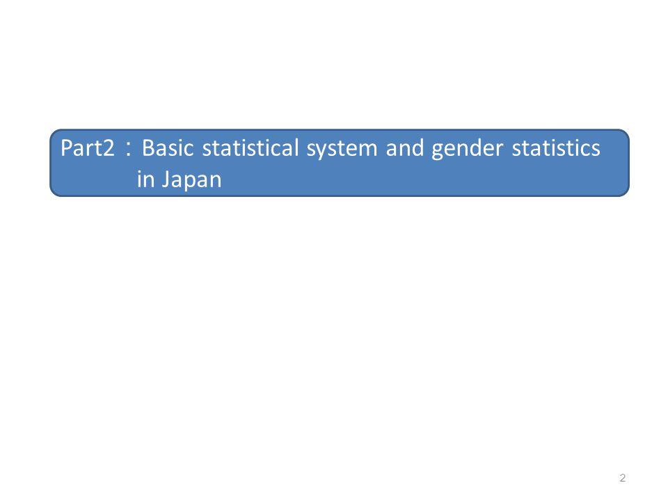 Part2:Basic statistical system and gender statistics