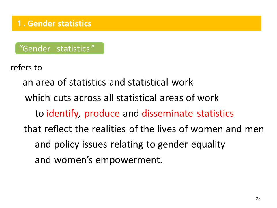an area of statistics and statistical work