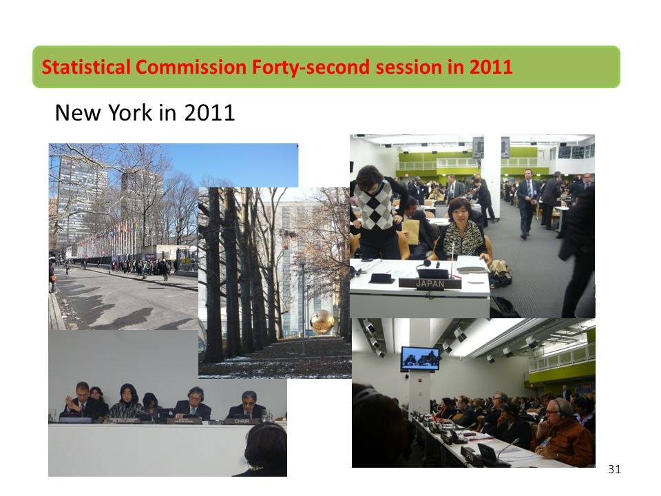 New York in 2011 Statistical Commission Forty-second session in 2011