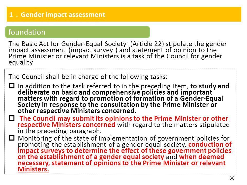 foundation 1.Gender impact assessment