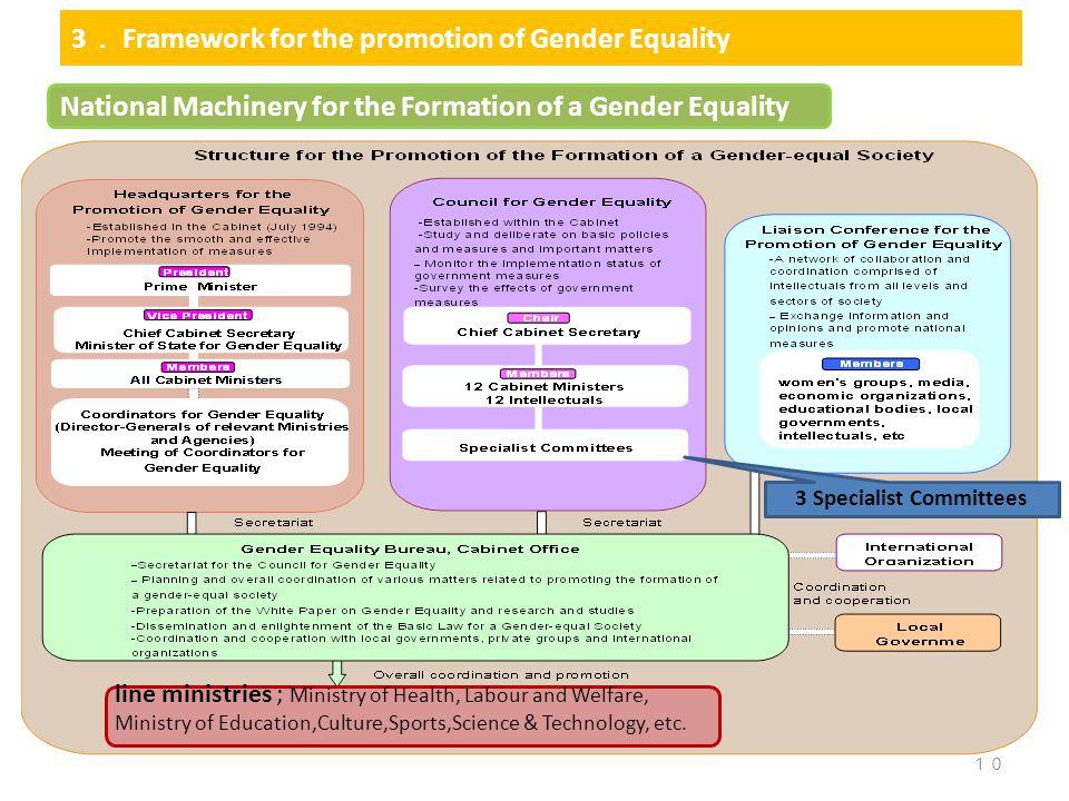 3. Framework for the promotion of Gender Equality