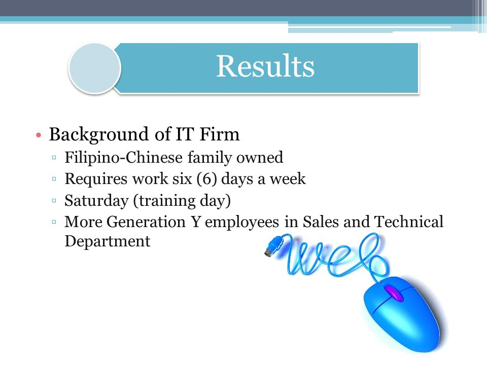 Background of IT Firm Filipino-Chinese family owned