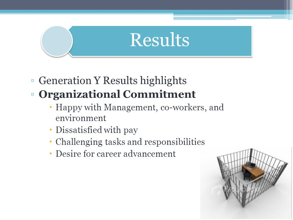 Generation Y Results highlights Organizational Commitment