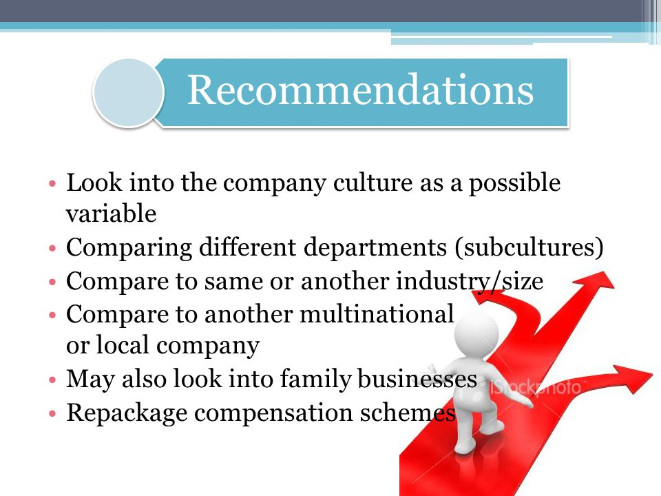 Look into the company culture as a possible variable