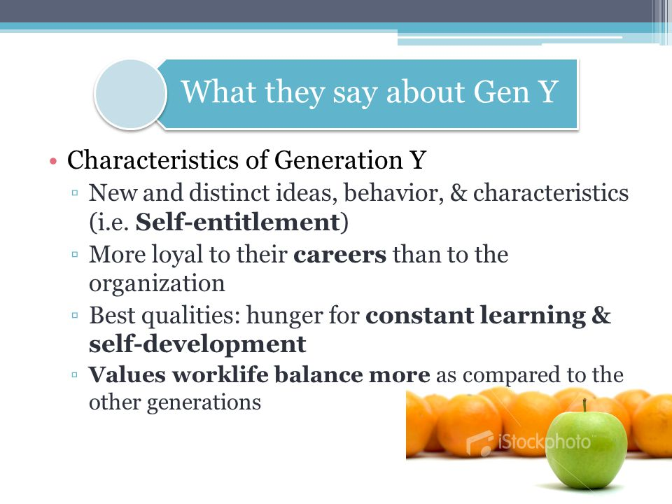 What they say about Gen Y