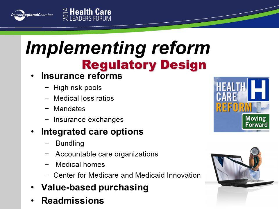 Implementing reform Regulatory Design Insurance reforms