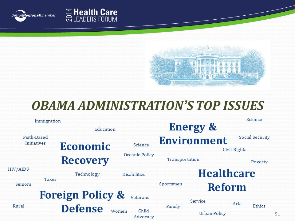 OBAMA ADMINISTRATION'S TOP ISSUES Foreign Policy & Defense