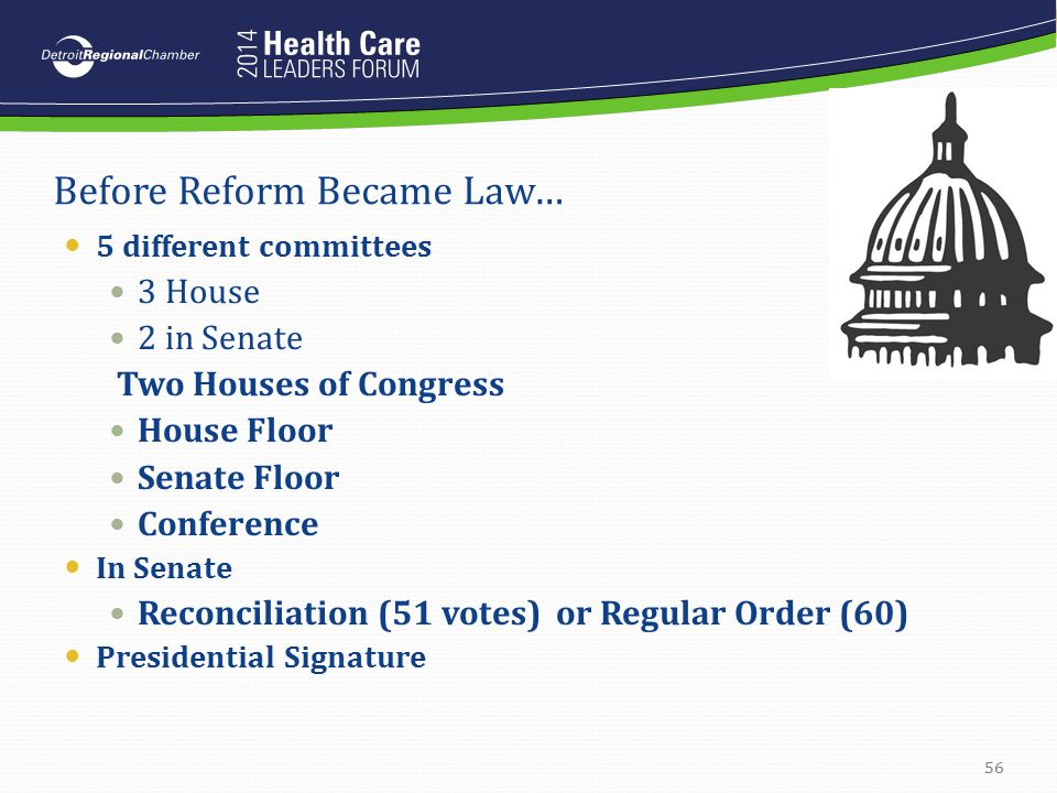 Before Reform Became Law…
