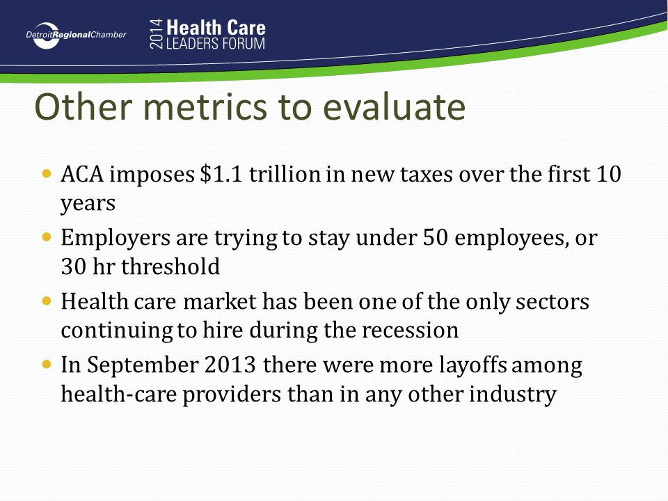 Other metrics to evaluate