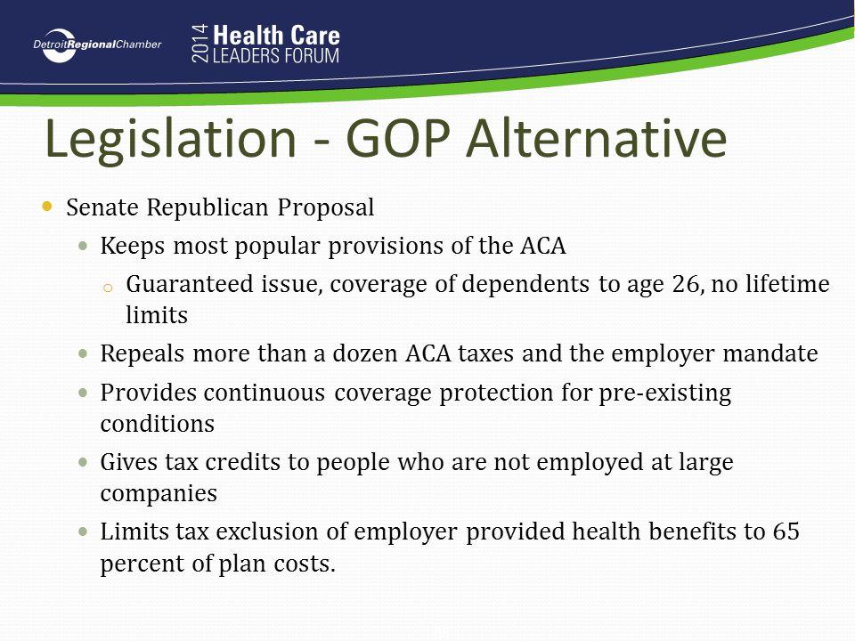 Legislation - GOP Alternative