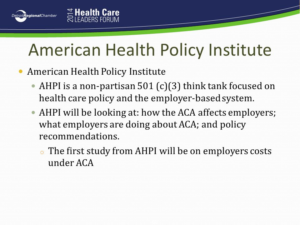 American Health Policy Institute