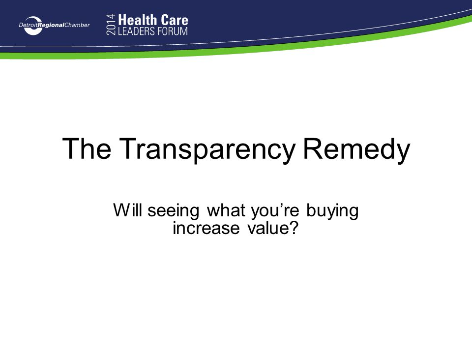 The Transparency Remedy