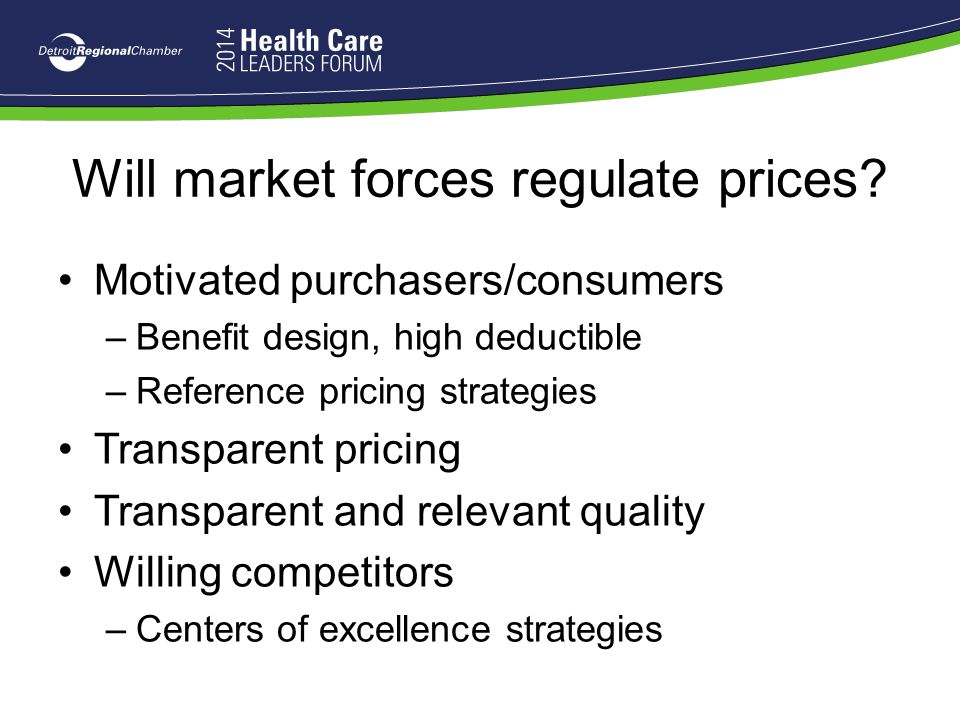 Will market forces regulate prices