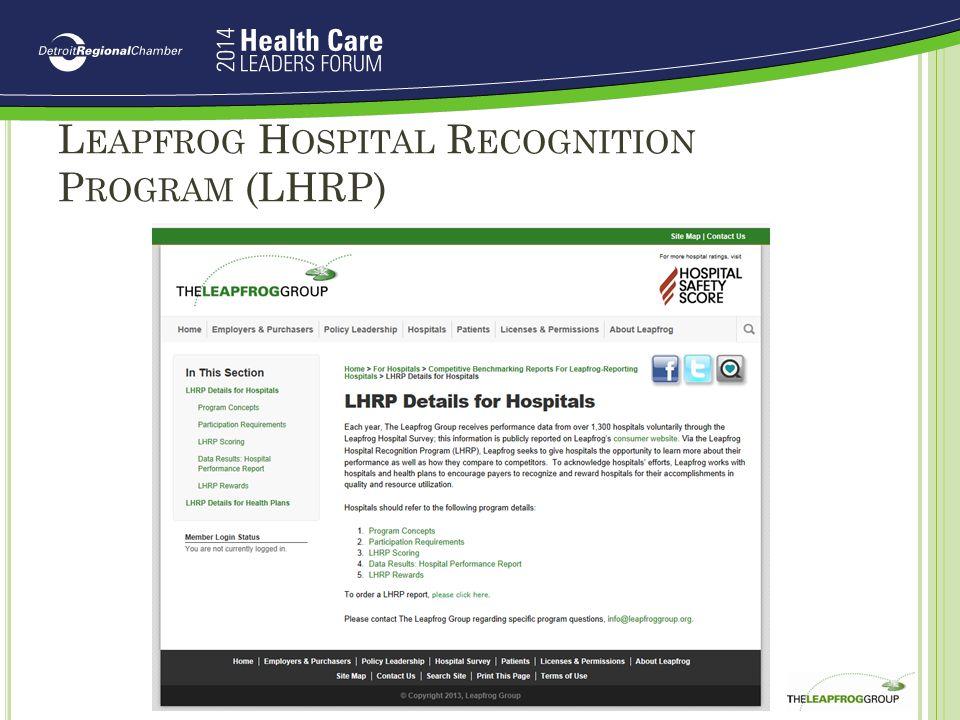Leapfrog Hospital Recognition Program (LHRP)