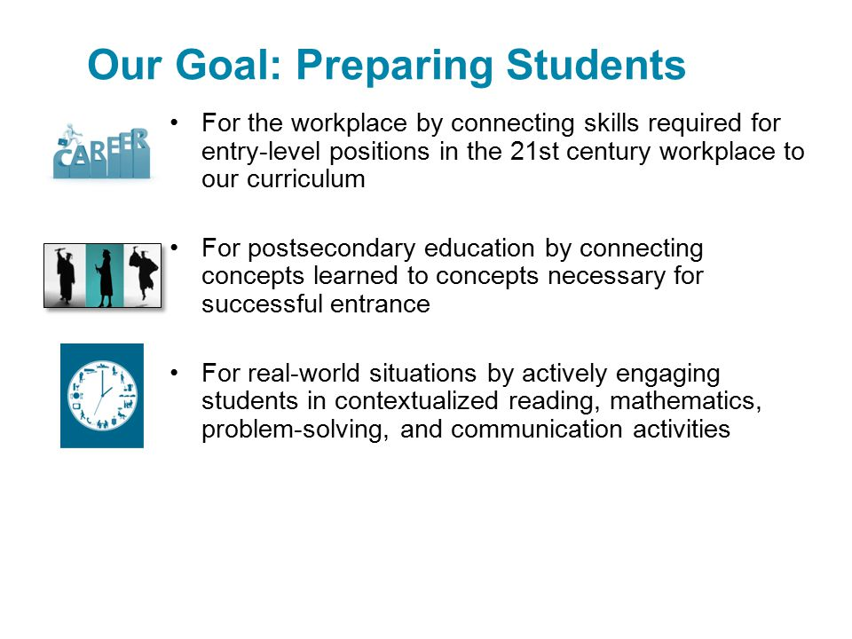 Our Goal: Preparing Students