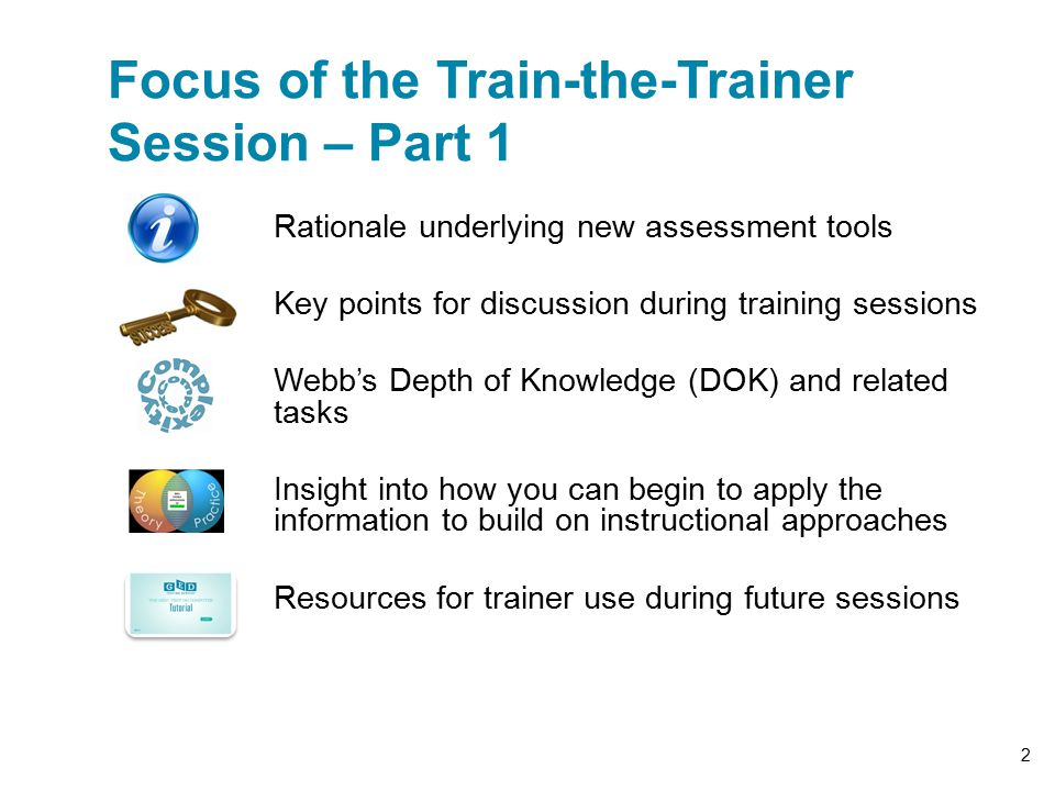 Focus of the Train-the-Trainer Session – Part 1