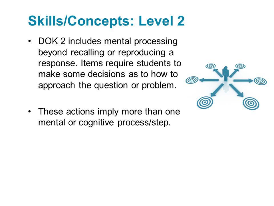 Skills/Concepts: Level 2