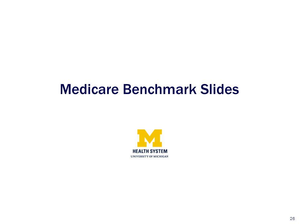 Medicare Benchmark Slides