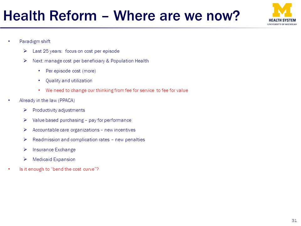 Health Reform – Where are we now