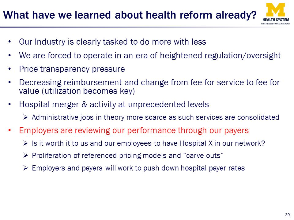 What have we learned about health reform already