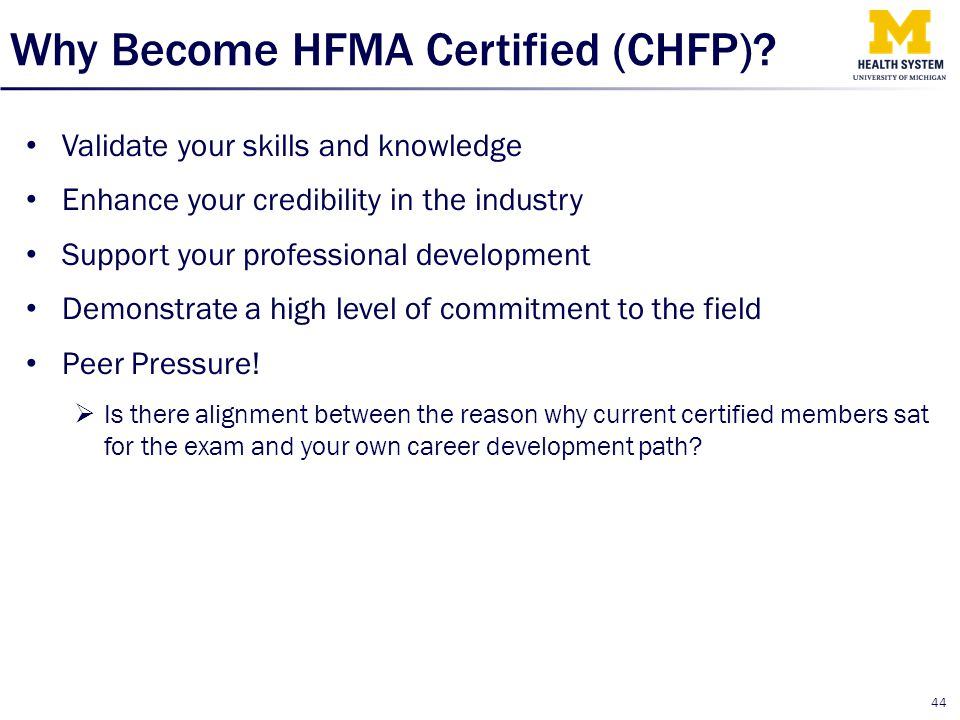 Why Become HFMA Certified (CHFP)