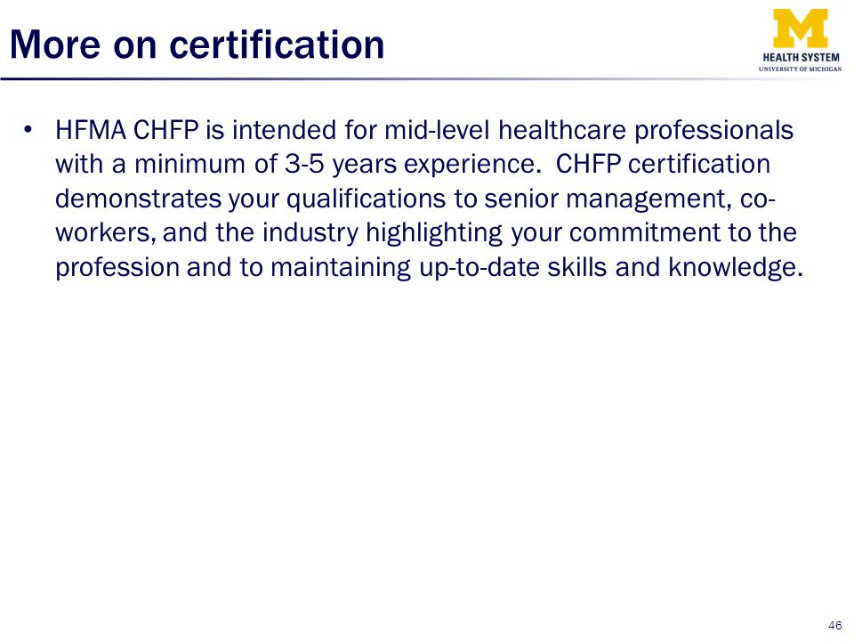 More on certification