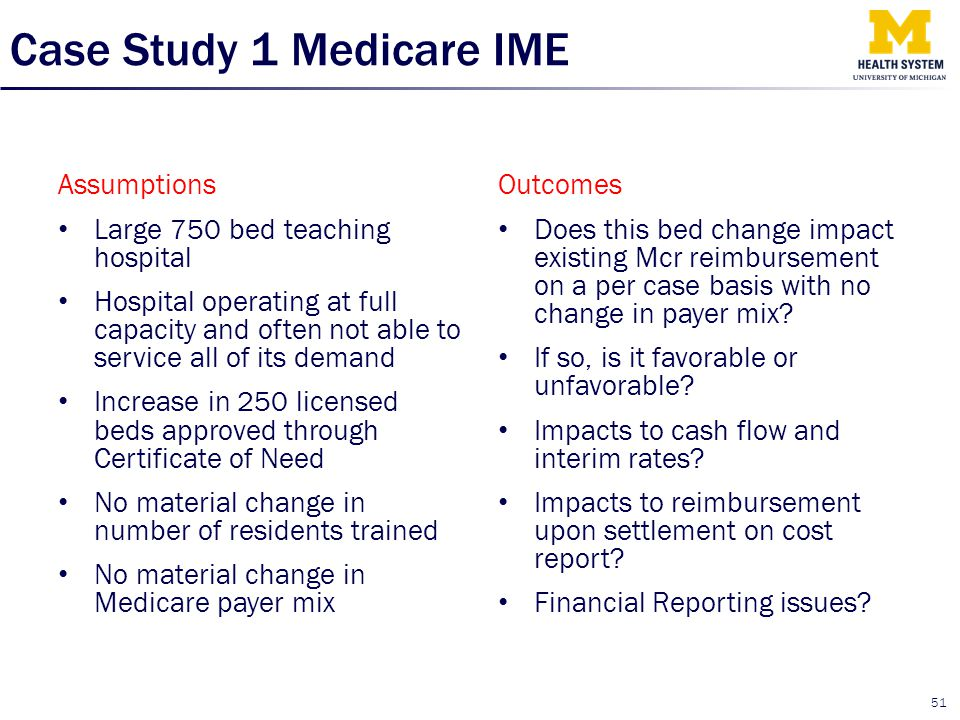 Case Study 1 Medicare IME
