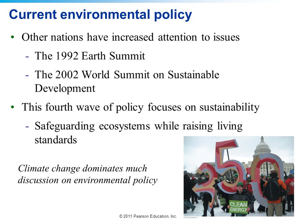 Current environmental policy