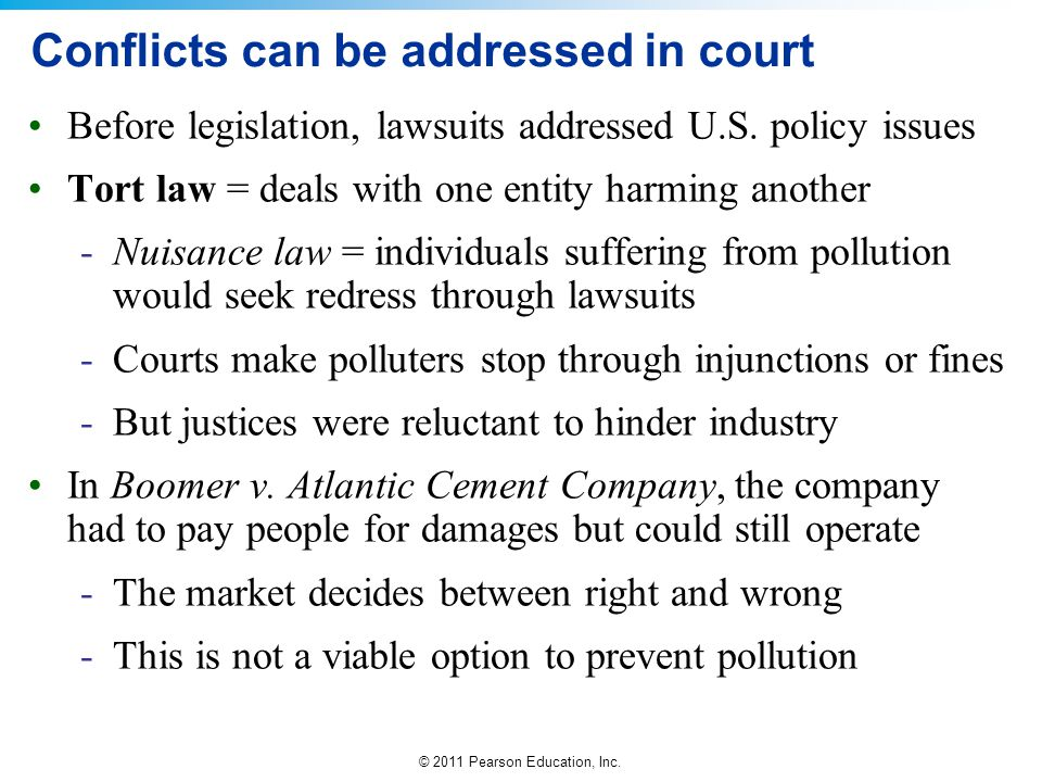 Conflicts can be addressed in court
