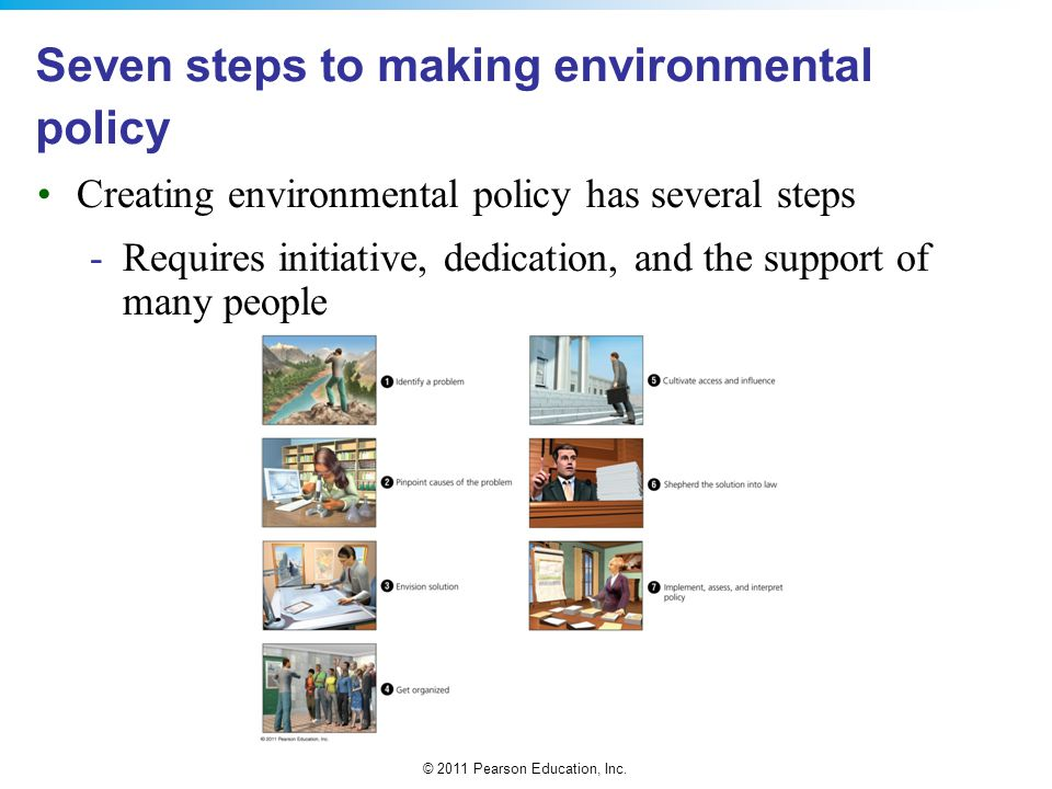 Seven steps to making environmental policy
