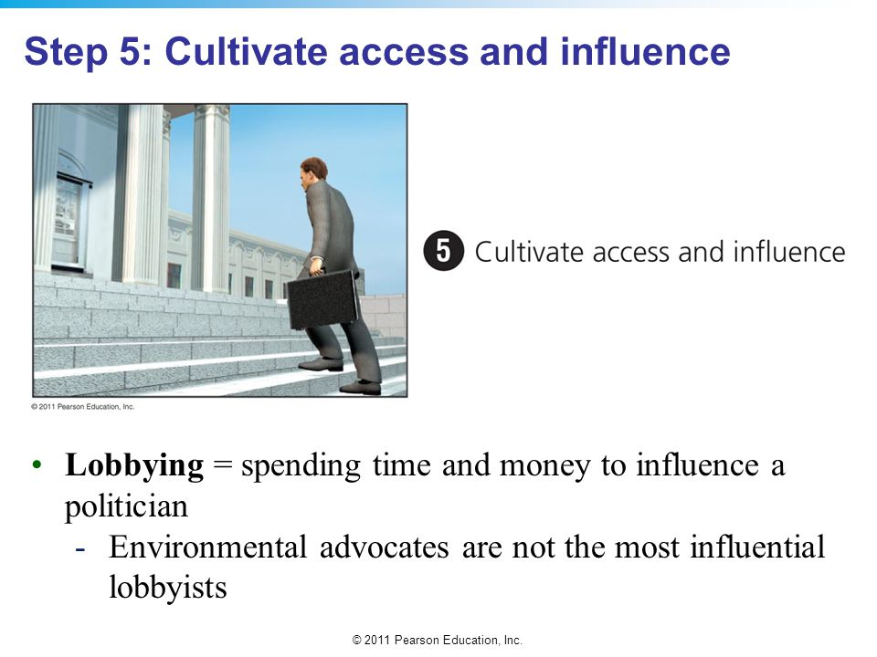 Step 5: Cultivate access and influence