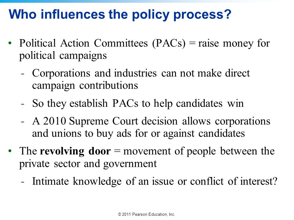 Who influences the policy process