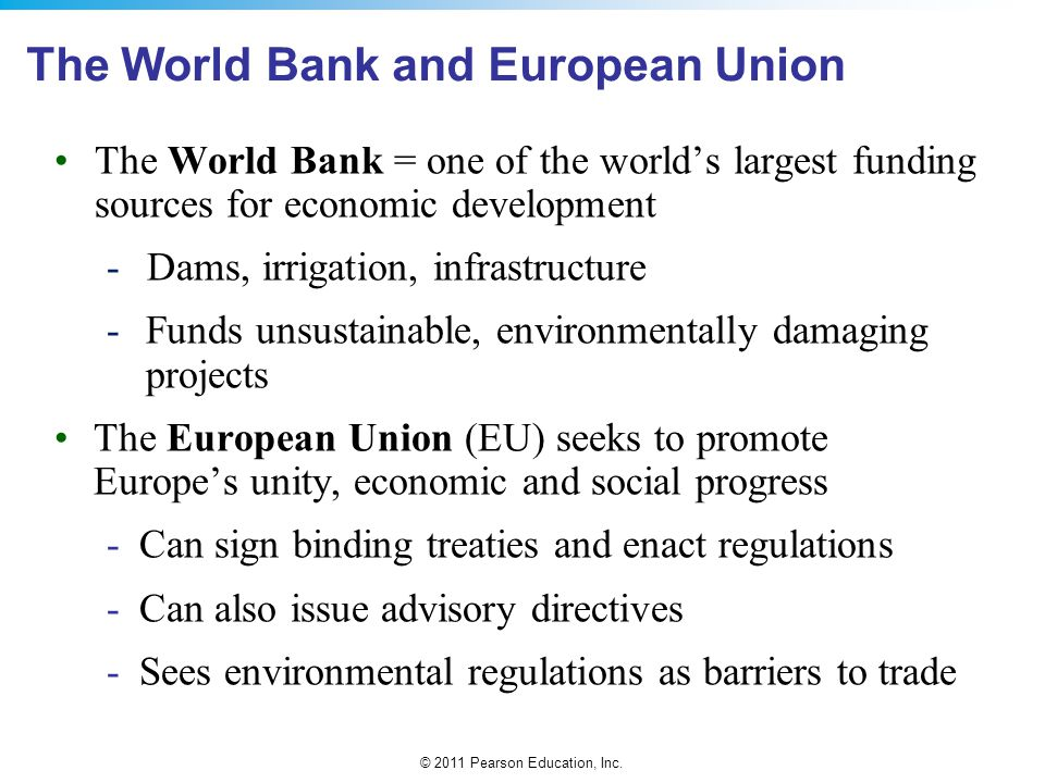 The World Bank and European Union