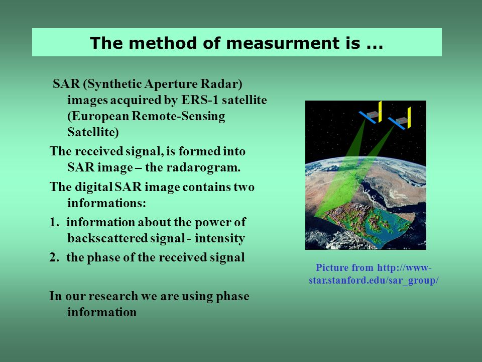 The method of measurment is ...
