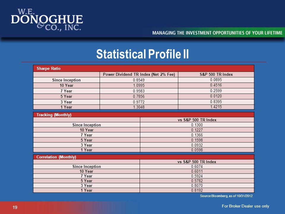 Statistical Profile II