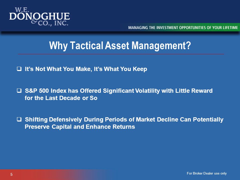 Why Tactical Asset Management
