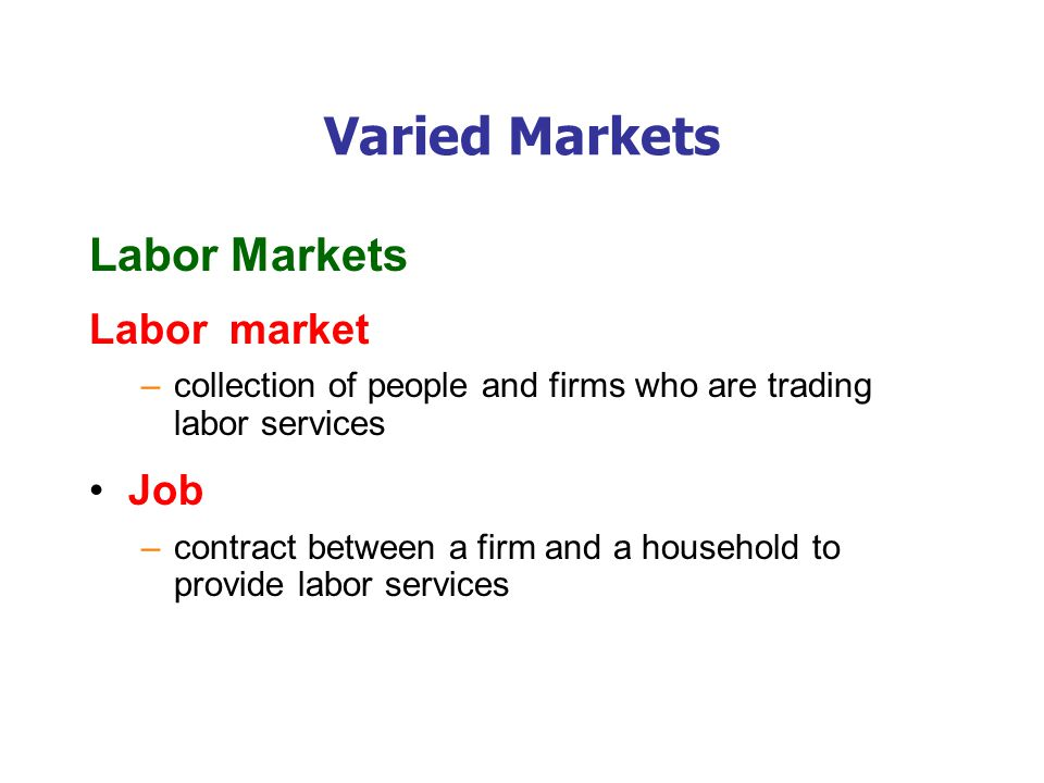 Varied Markets Financial Markets Capital Financial capital
