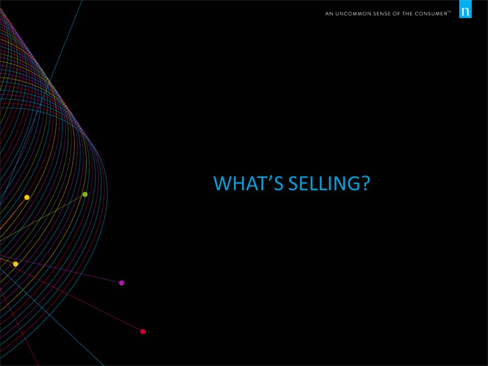 What's selling Let's now examine trends in buying behavior.
