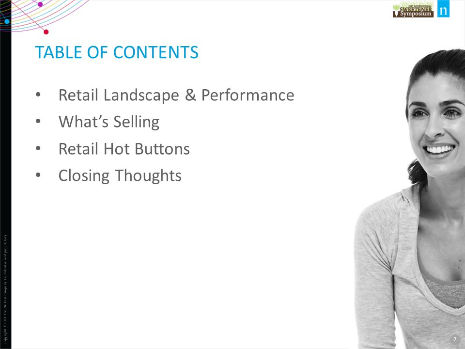 Table of contents Retail Landscape & Performance What's Selling
