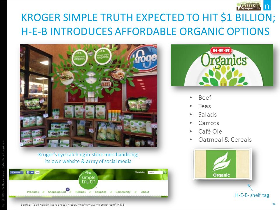 Kroger Simple Truth expected to hit $1 Billion; H-E-B introduces Affordable Organic Options