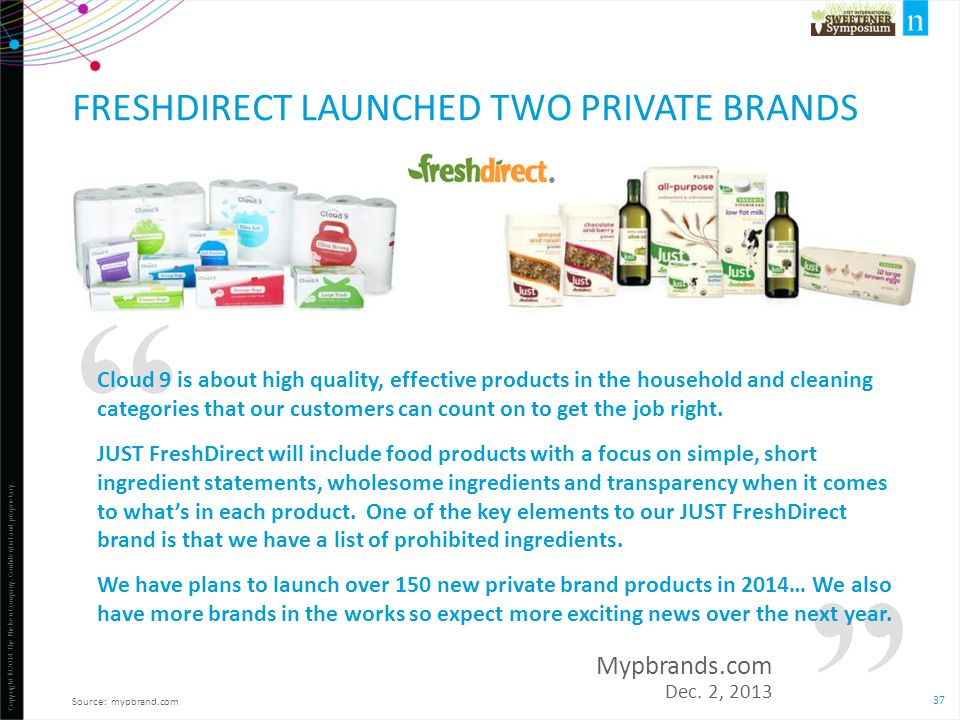 FreshDirect launched TWO private brands
