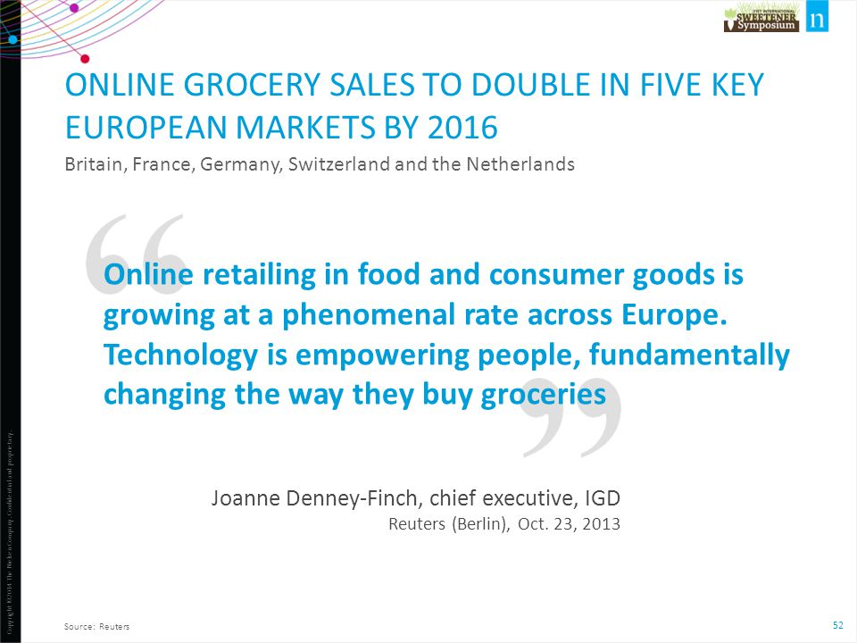 Online grocery sales to double in five key European markets by 2016